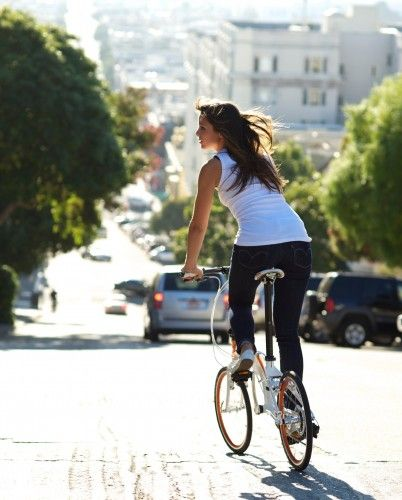 Tern At La Opportunity Green Folding Bike Bicycle Bicycle Girl