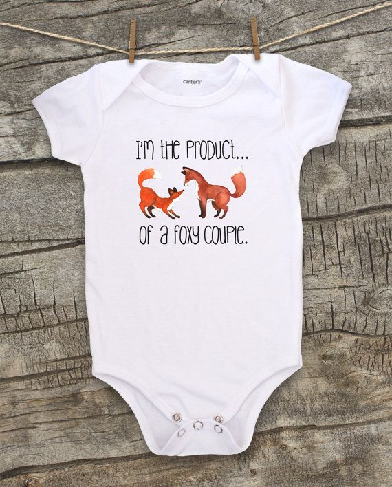 9a38bb5b780d Baby Bodysuit clothing Toddler tshirt Kids Fox by WatercolorZoo