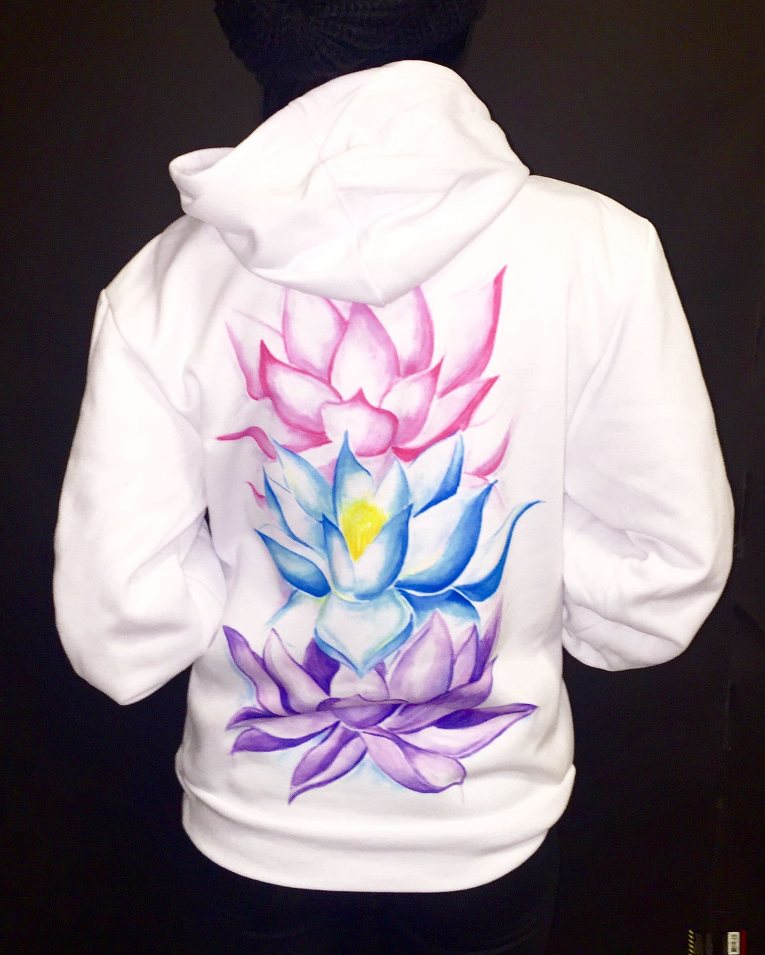 Httpelectrothreadscollectionsnewproductslotus flower lotus flowers unisex hoodie dhlflorist Gallery