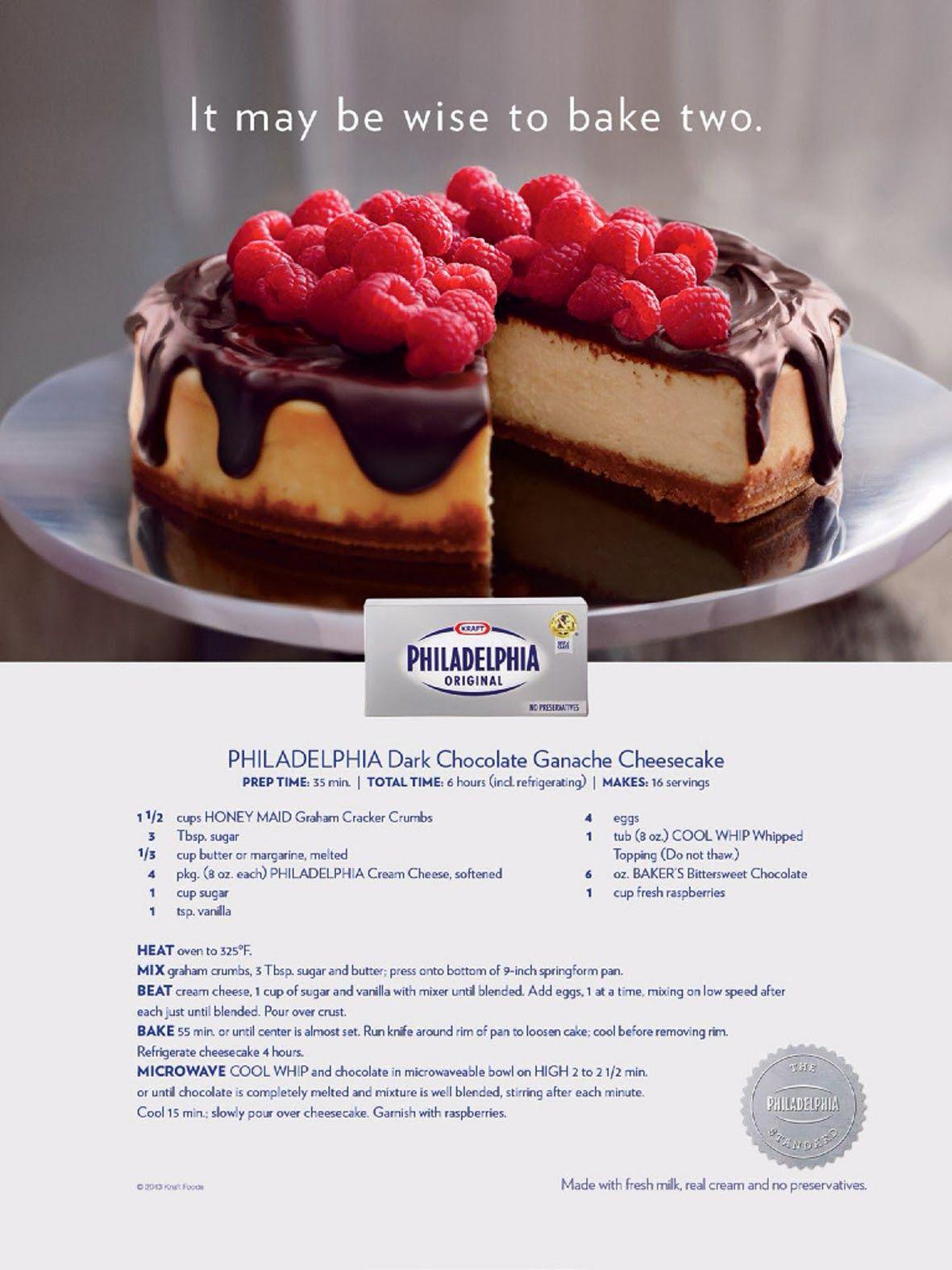 Kulinaari: Mainoksen uhri joka pääsi Philadelphia Dark Chocolate Ganache Cheesecake -taivaaseen.