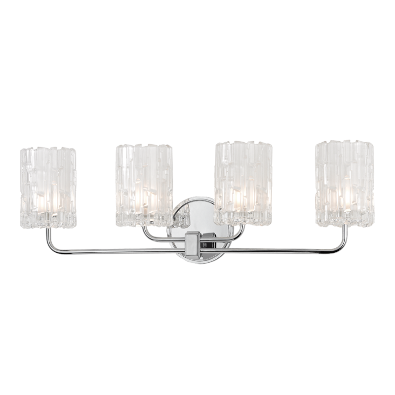 Dexter bath and vanity hudson valley lighting lighting off dexter polished chrome four light vanity fixture by hudson valley shade attachment socket ring shade attachment wirecord length 7 inches bulbs mozeypictures Images