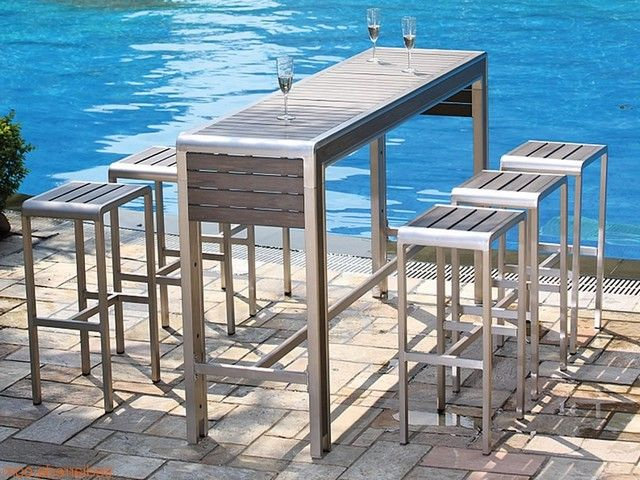 Sensational Attractive Outdoor High Top Table And Chairs High Top Table Machost Co Dining Chair Design Ideas Machostcouk