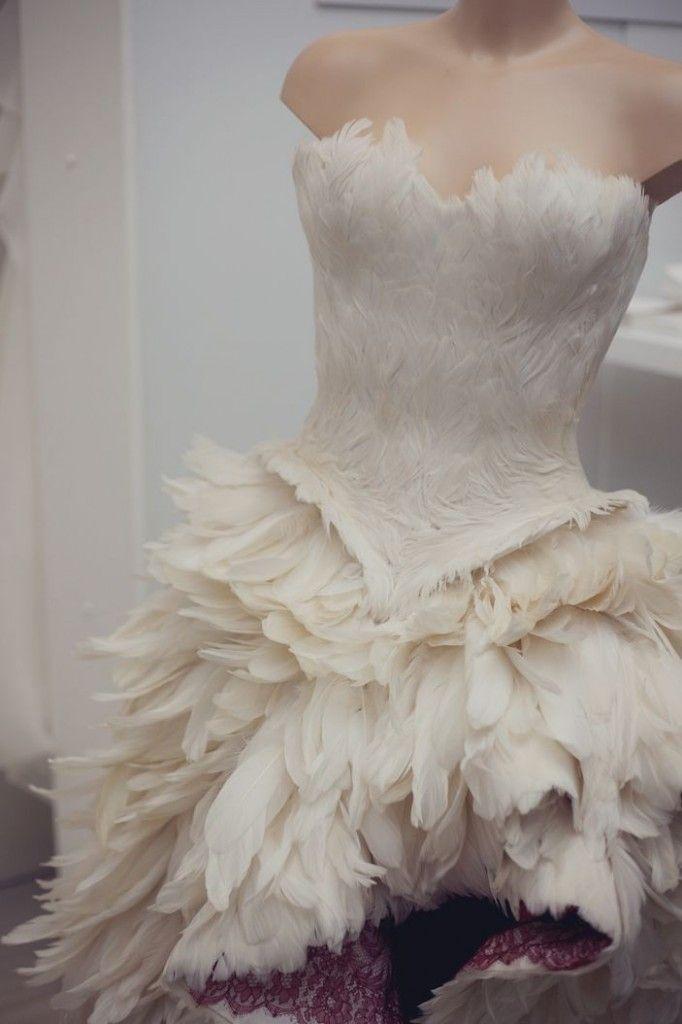 White feather dress short uk winter