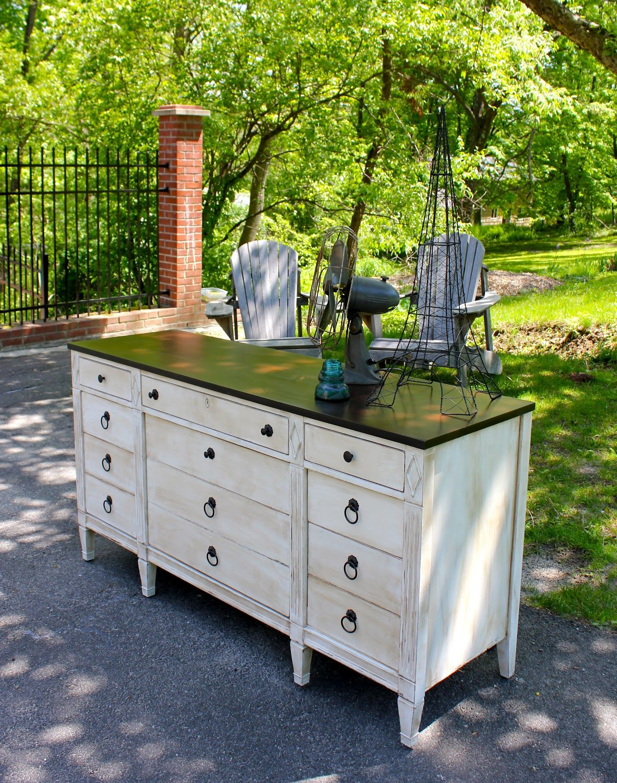craigslist dresserfrom old and run down to pretty and