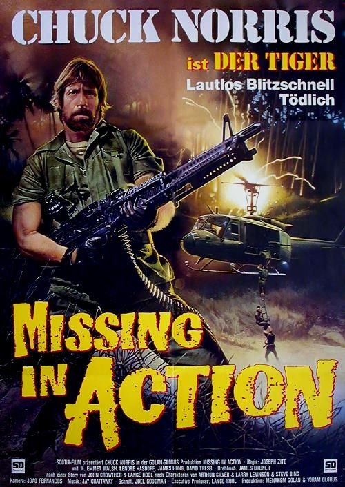 Beautiful Missing In Action: German Movie Poster And Missing In Action Poster
