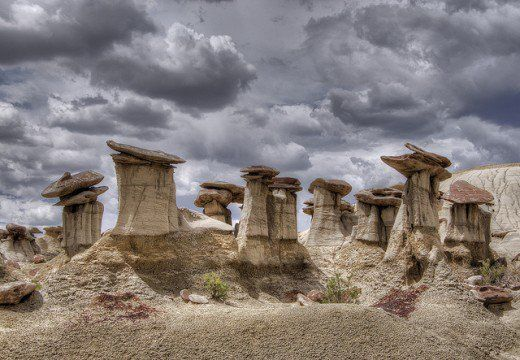 Hoodoos at Ah-Shi-Sle-Pah Wilderness Area are unique rock formations in north-western part of New Mexico.
