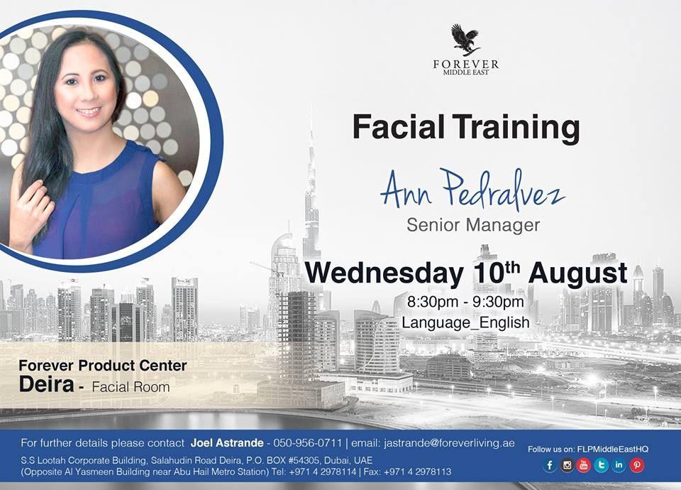 Facial Training by Ann Pedralvez u00 Senior Manager