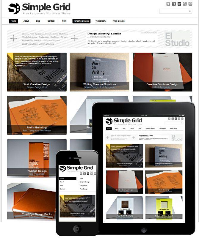 theme wordpress | Design responsive | Pinterest