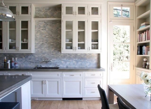 Options for a kitchen design with no window over the sink for Alternative kitchen design ideas