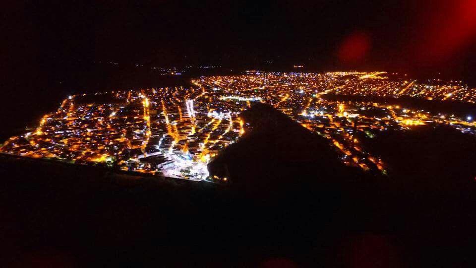 Vista Area Noturna Da Nossa Querida Cidade Bom Jesus Da Lapa Ba