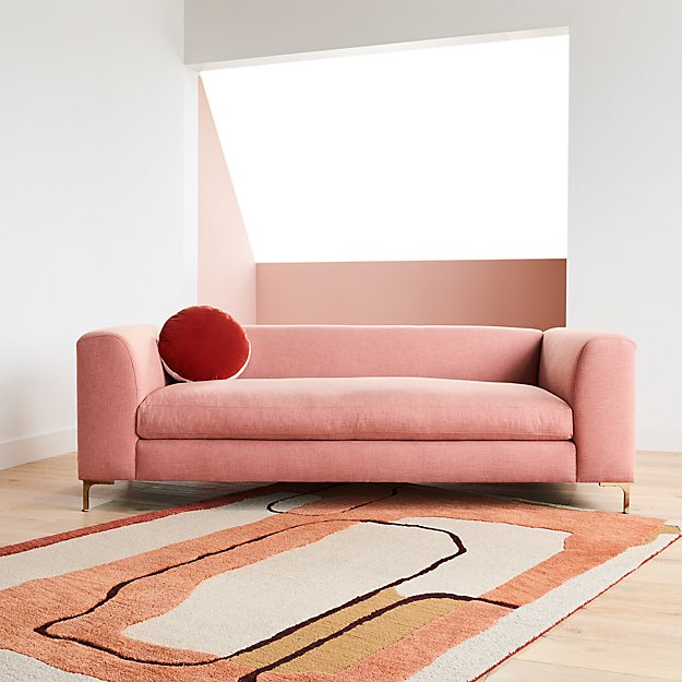 Hendrix Rug 9 X12 Reviews Crate And Barrel In 2020 Pink Sofa Fine Rugs Crate And Barrel