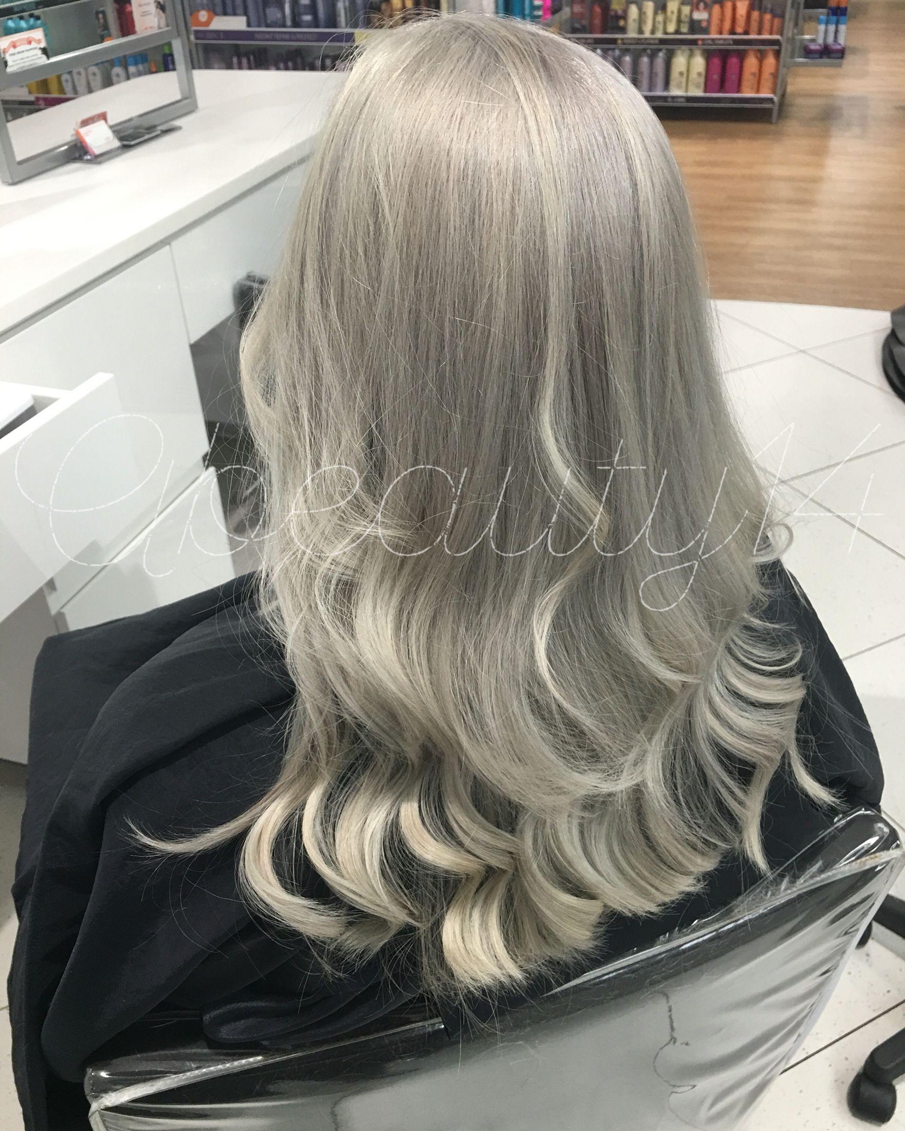 Platinum Blonde Silver Hair Gray Hair Balayage Girl Stuffs