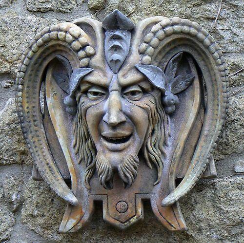 Faunus the Roman Pan Cornish Stone wall fountain
