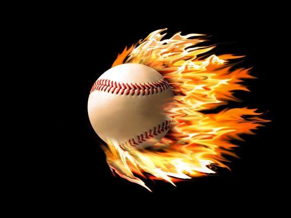 Baseball On Fire Sports Backdrop 1 Baseball Wallpaper College Baseball Baseball