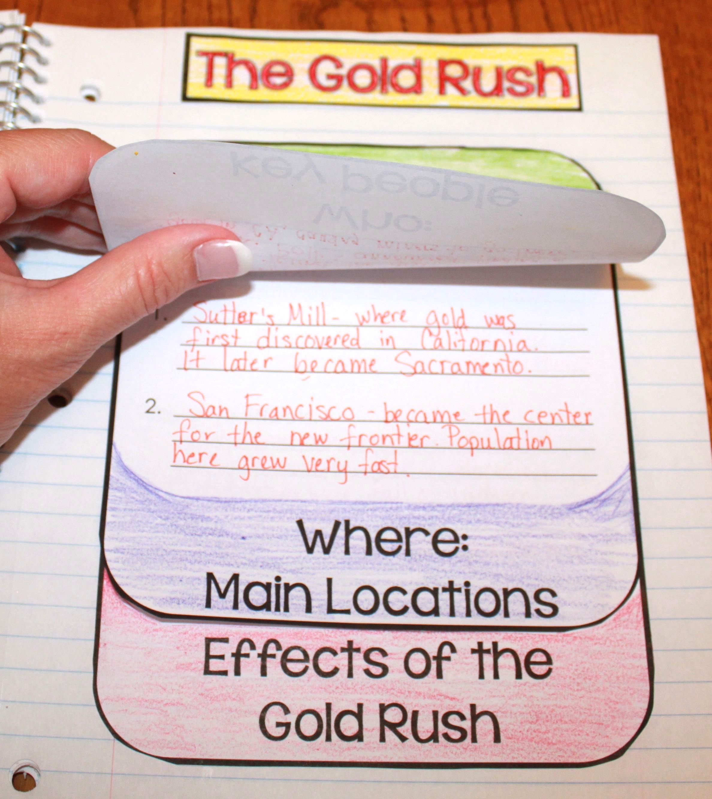 Gold Rush Activities For Kids Are Fun And Engaging With This Interactive Soc Gold Rush Activities 4th Grade Social Studies Interactive Notebooks Social Studies