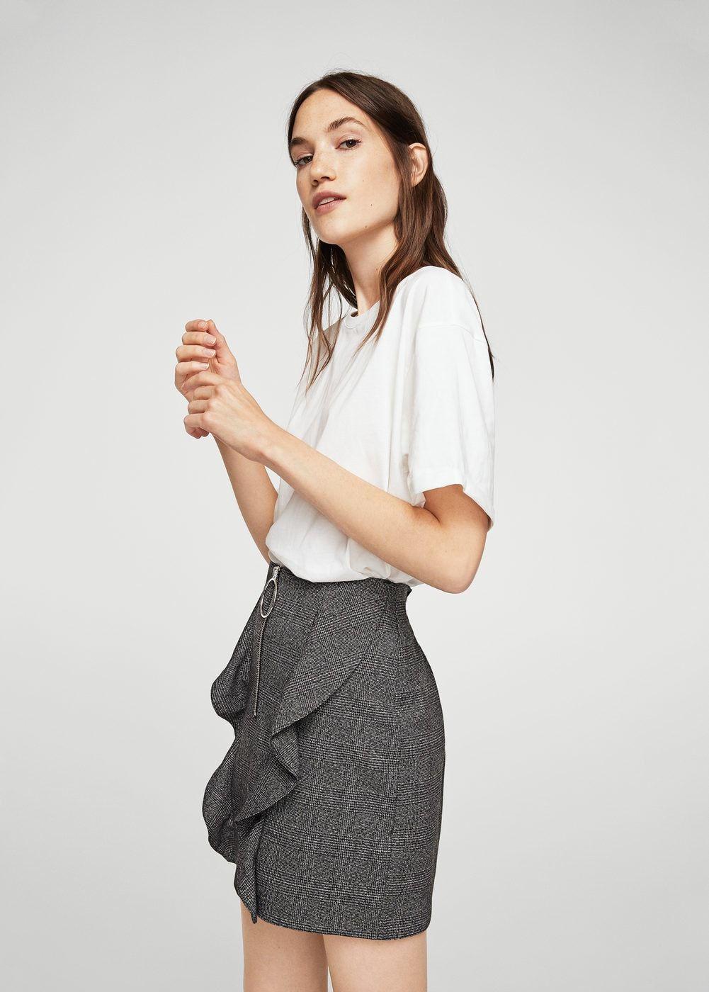Falda Volantes Mujer Ruffle Cuadros Pinterest Moda Skirt gqp8qx7r1w