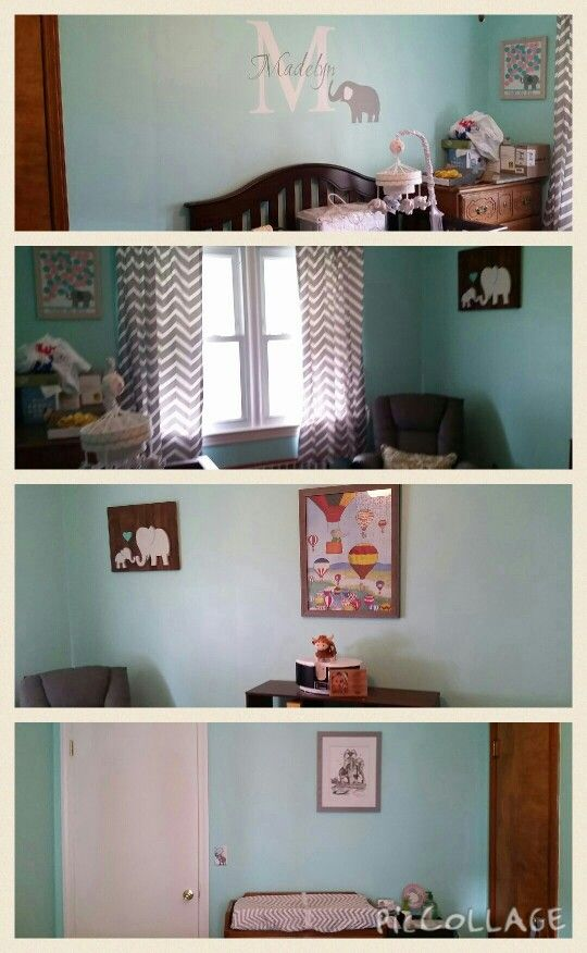Madelyn's finished nursery...now just waiting for her arrival #babyontheway #finalcountdown #elephantnursery
