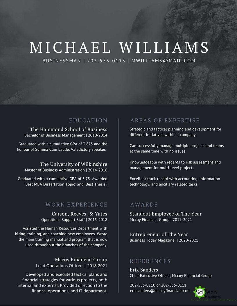 Start designing Resume, Business management, Resume