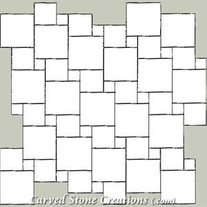 Square Combo Pattern Square Tile Mosaic Patterns Stone Pattern