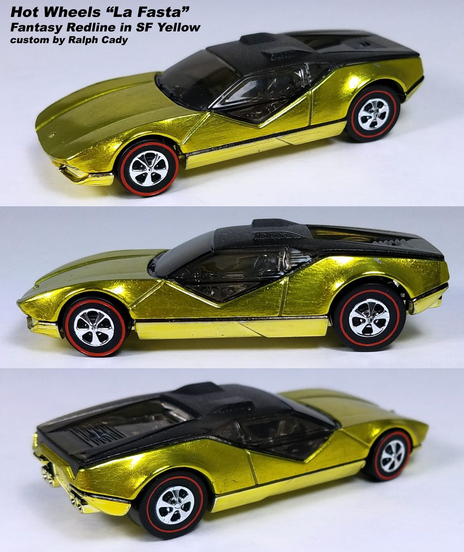 La Fasta Yellow Redline Custom Pantera Car Hot Wheels Pantera [ 1370 x 1152 Pixel ]