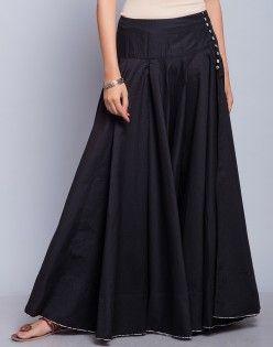 6238e5ebef Cotton Ghera Printed Facing Long Skirt | desirable sarees | Skirts ...