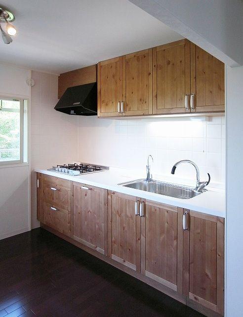 アーリーアメリカンmixスタイル システムキッチンはikea製 リフォーム ナチュラルな雰囲気の使いよさそうでステキなシステムキッチン システムキッチン アーリーアメリカン システムキッチンリフォーム