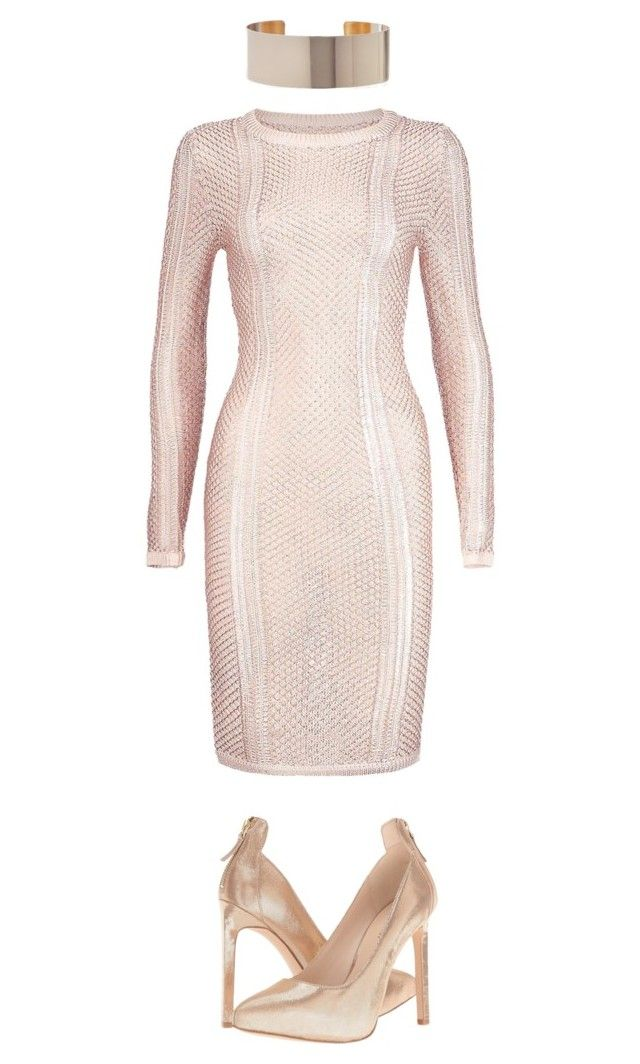 """Rose Gold"" by hautecoutureblvd on Polyvore featuring Boohoo and Nine West"