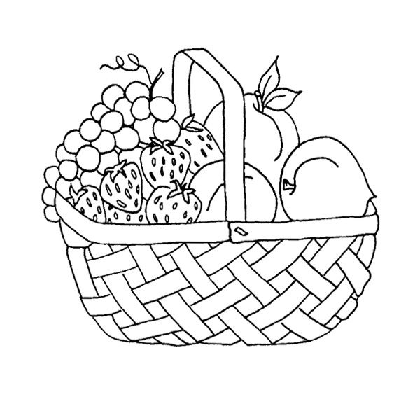 fruit baskets coloring pages - photo#21