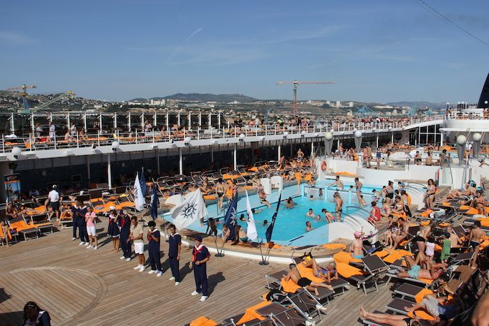 Msc Cruises Lirica Entertainment Team Host A Sail Out Party From Most Ports Http Www Tipsfortravellers Com Msc Lirica On Deck Enterta Msc Cruises Cruise Msc