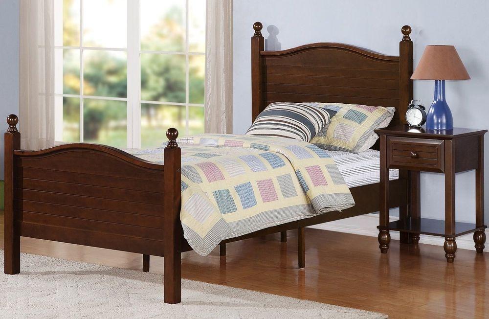 Twin Size Bed w/Headboard and Footboard Kids Teens Bedroom