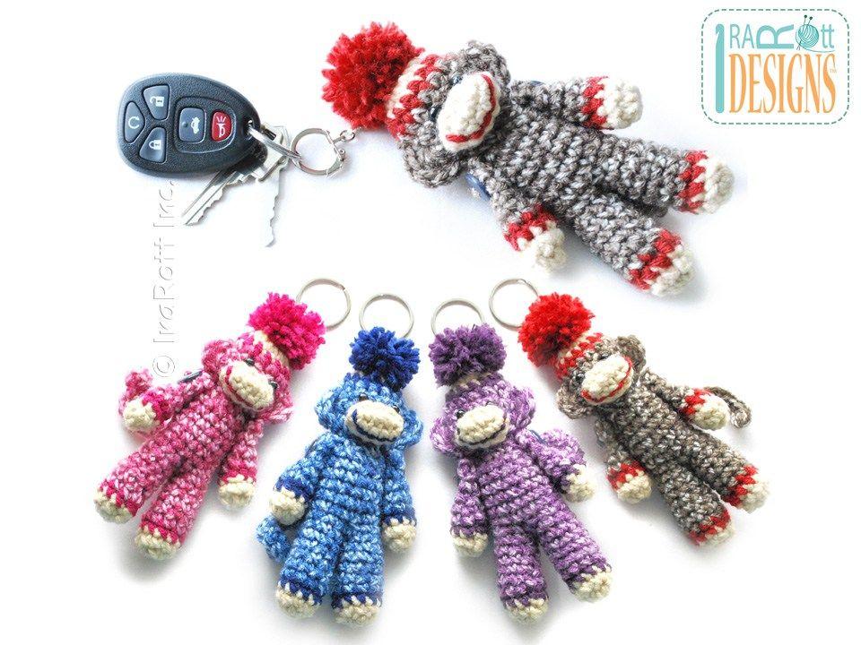 Ima lil Monkey Key Chain PDF Crochet Pattern   keychains   Pinterest