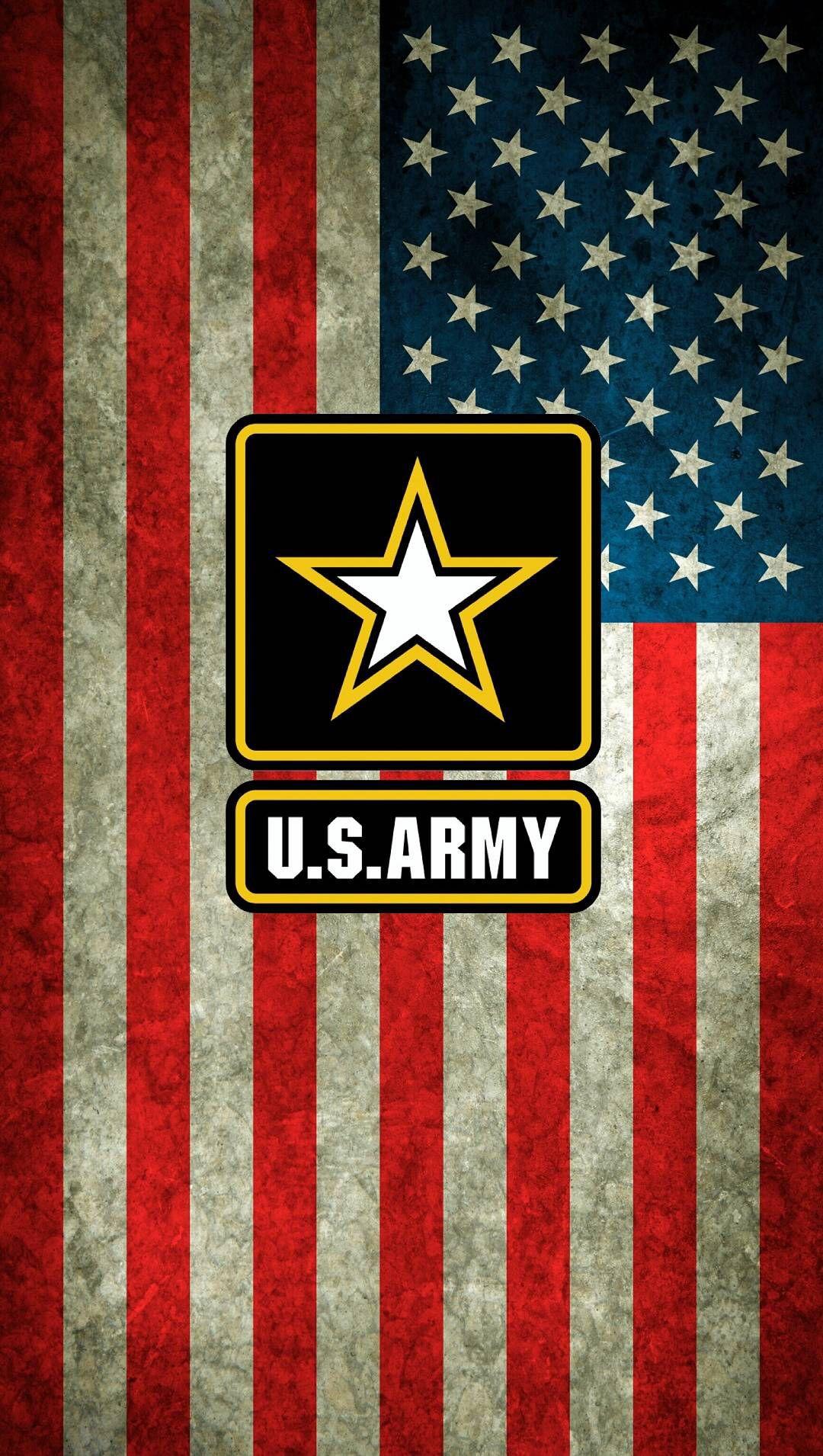 US Flag w Army logo Army wallpaper, Us army logo, Logo