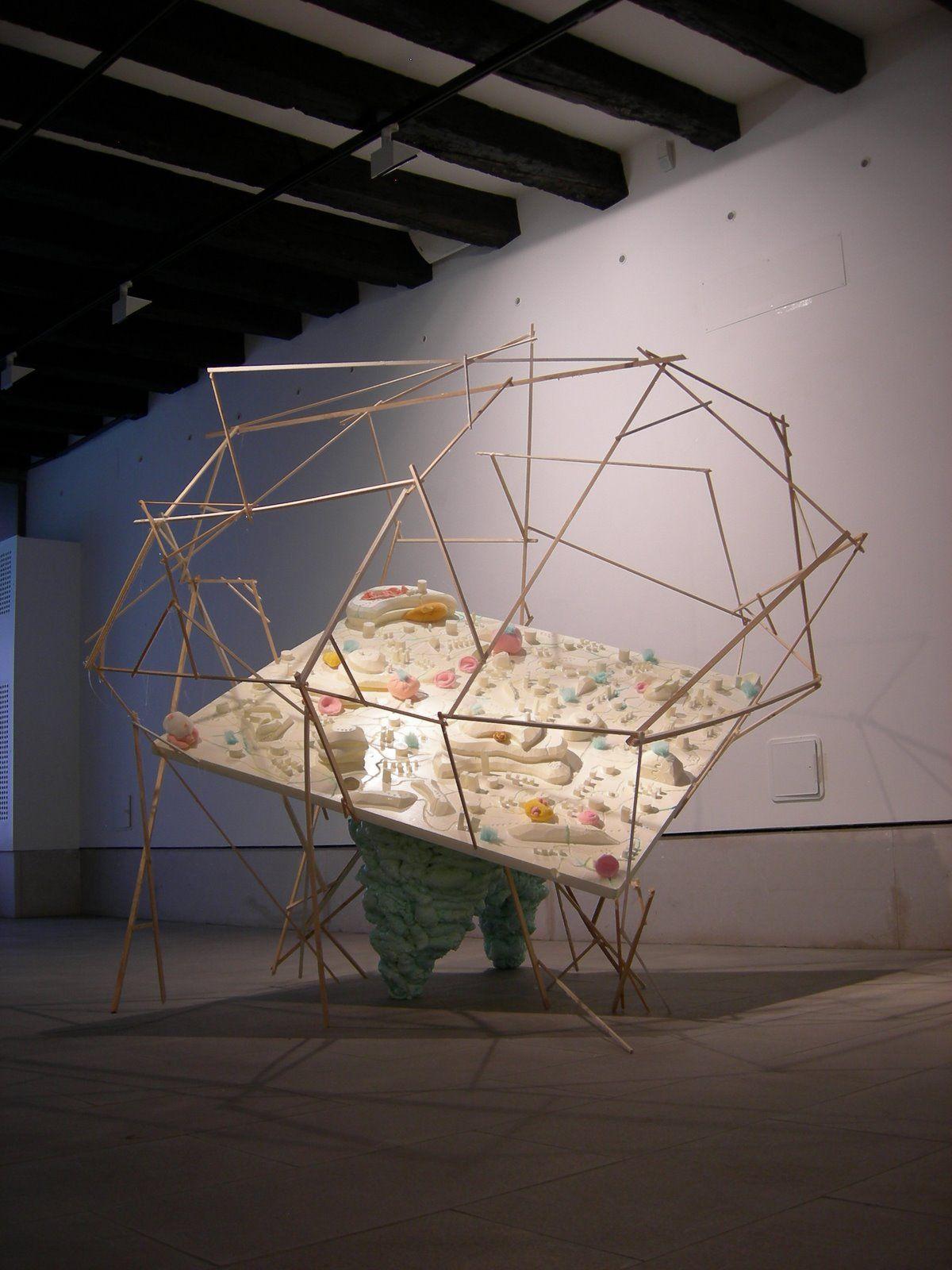 sculpture acrilic Invisible Cities Italo Calvino destruction futureart installation venice gallery