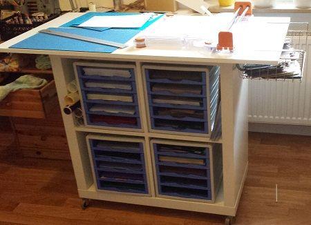 expedit craftroom schneidetisch papieraufbewahrung bastelzimmer ideen pinterest. Black Bedroom Furniture Sets. Home Design Ideas