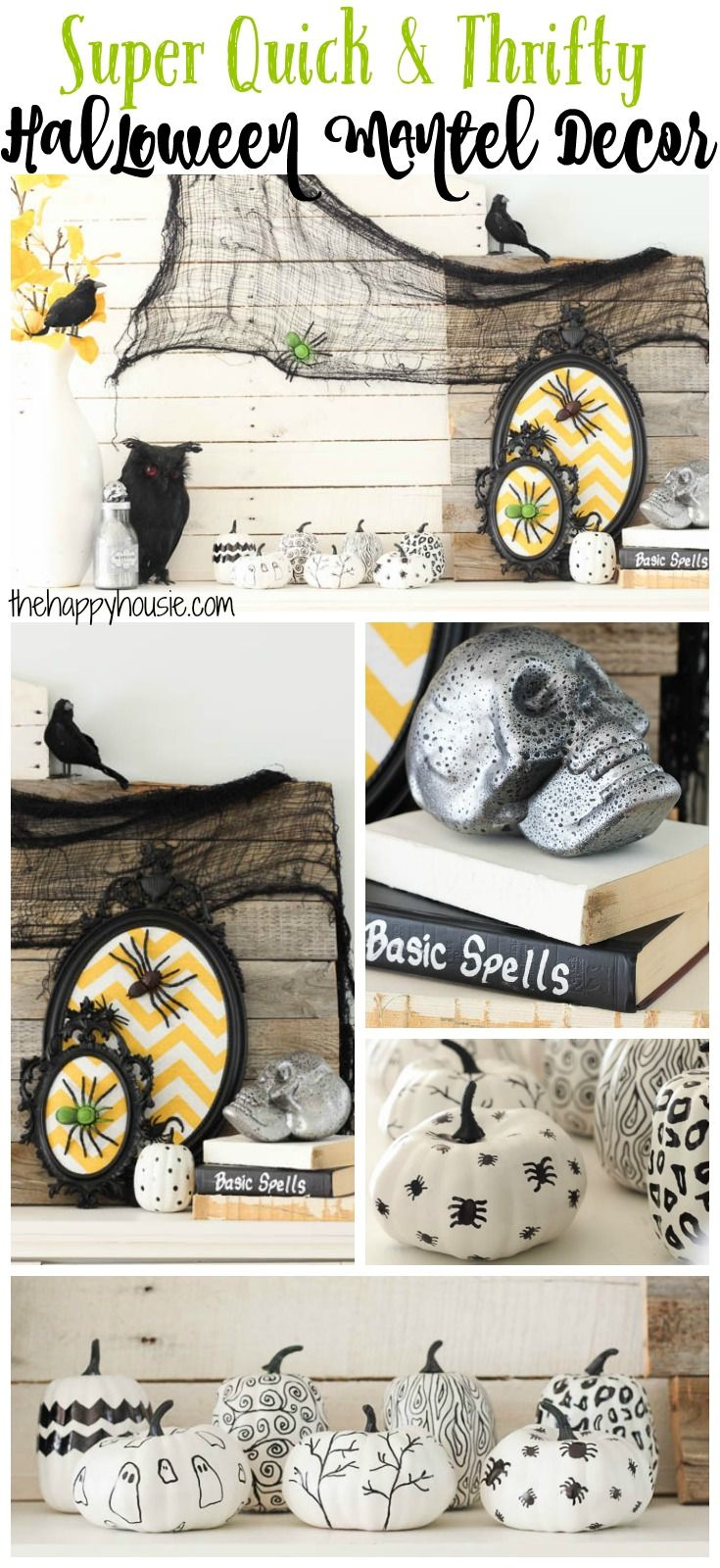 Super Quick and Thrifty Halloween Mantel Decor | Home-made Halloween ...