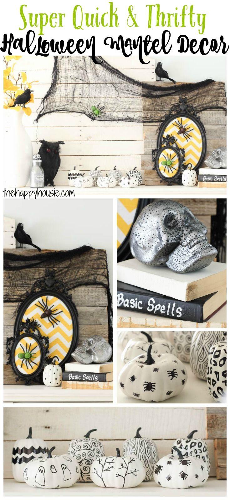 Super Quick and Thrifty Halloween Mantel Decor | Pinterest | Home ...