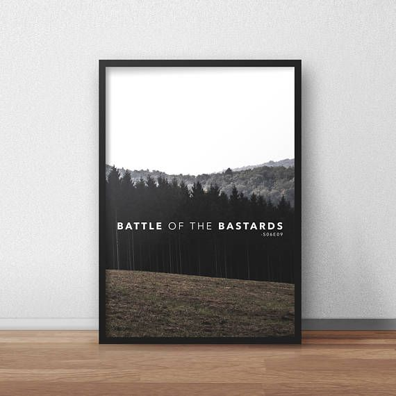 Battle of the Bastards Jon Snow Poster Game of Thrones Print Wall Decor
