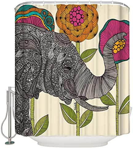 Amazon Com Elephant Shower Curtain Fabric In 2020 Shower