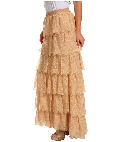 BCBGMAXAZRIA Edita Tiered Lace Skirt Parfait - Zappos.com Free Shipping BOTH Ways