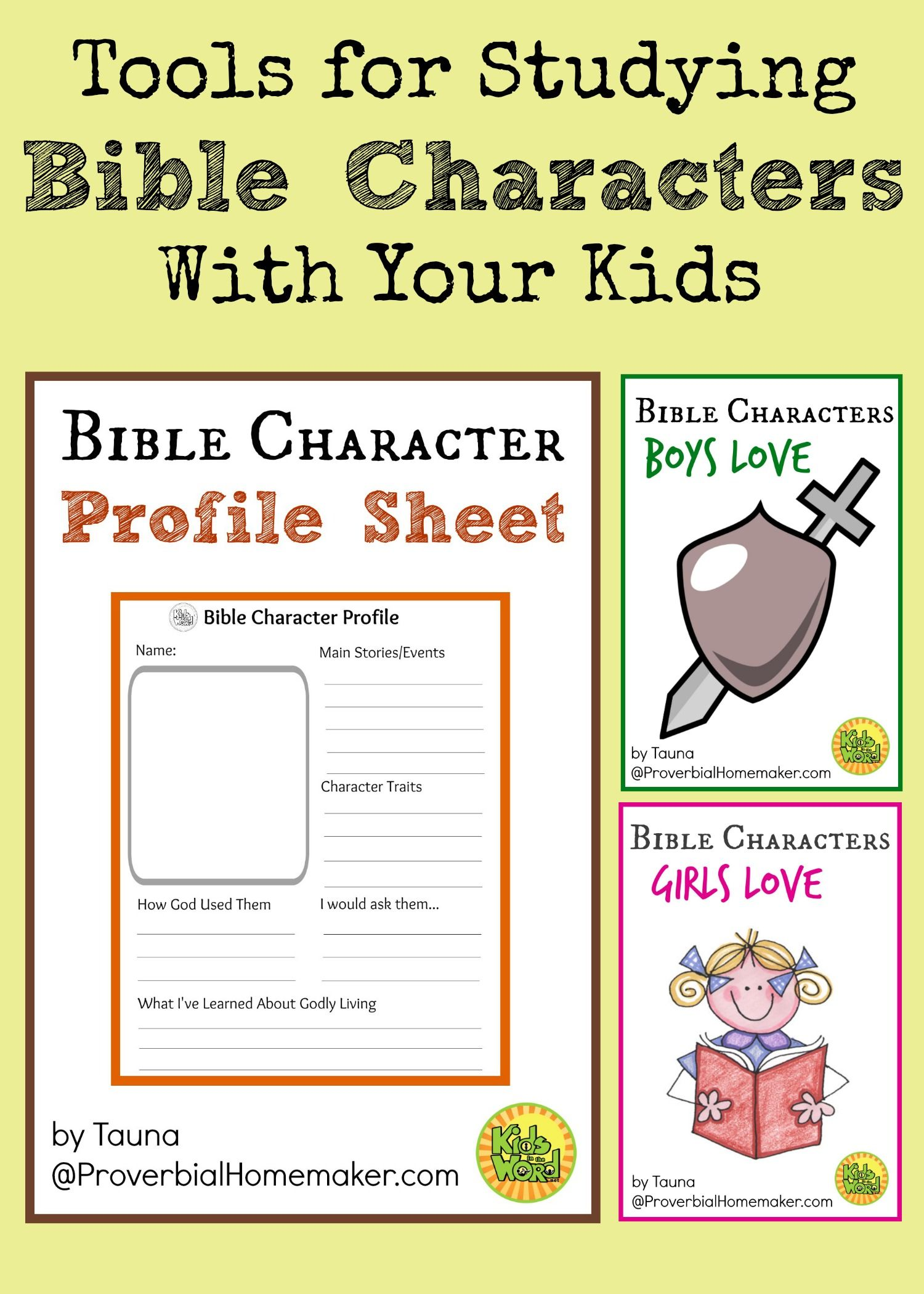 Study Bible Characters With Your Kids