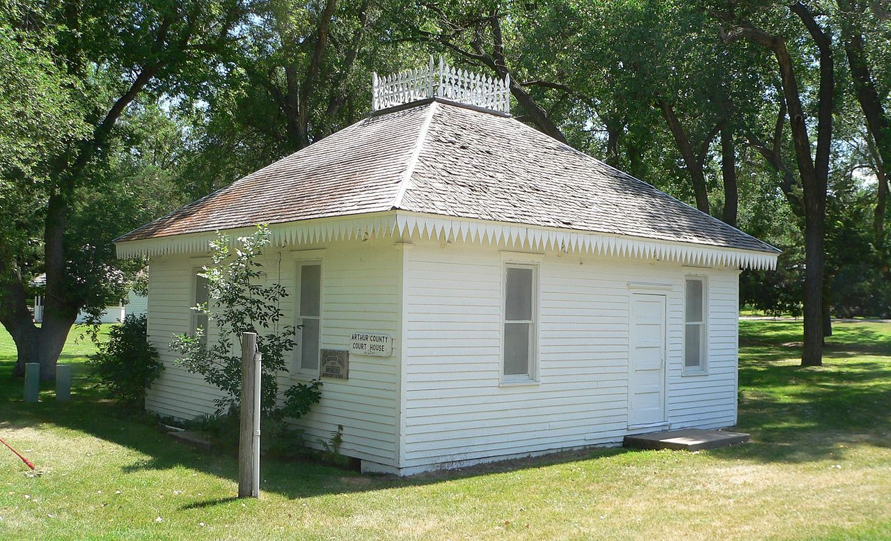 First Arthur County Courthouse and Jail in Nebraska.