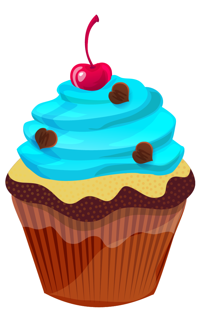 cute cupcake clip art cupcake clip art cake cupcakes blue pink rh pinterest com clipart of cupcakes black and white clip art of pancakes and bacon