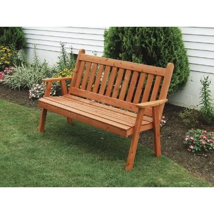 Furniture Barn Usa Cedar Outdoor 4 Foot Traditional English Garden Bench Stained Amish Made Usa Bees Wax With Images Garden Bench Outdoor Bench Wooden Garden Benches