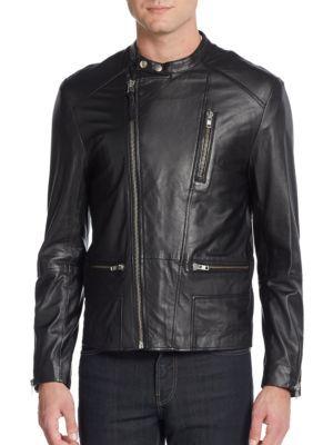 Mackage Ruben Leather Moto Jacket In Black Modesens Leather Moto Jacket Moto Jacket Jackets