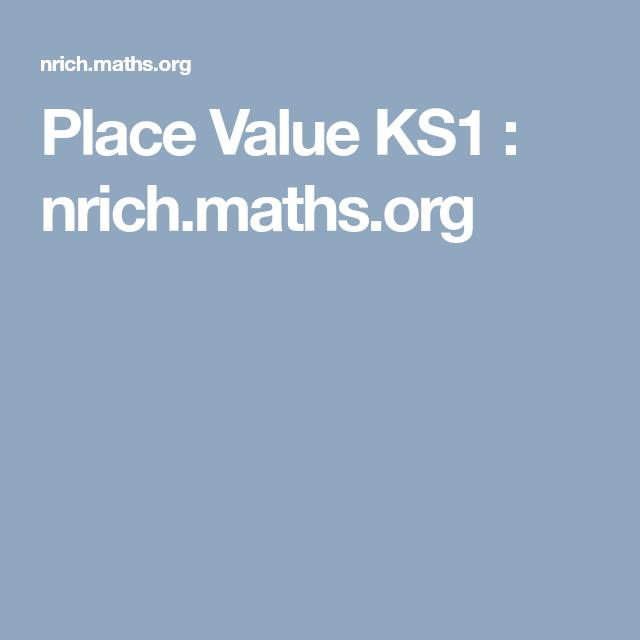 nrich place value problem solving ks2