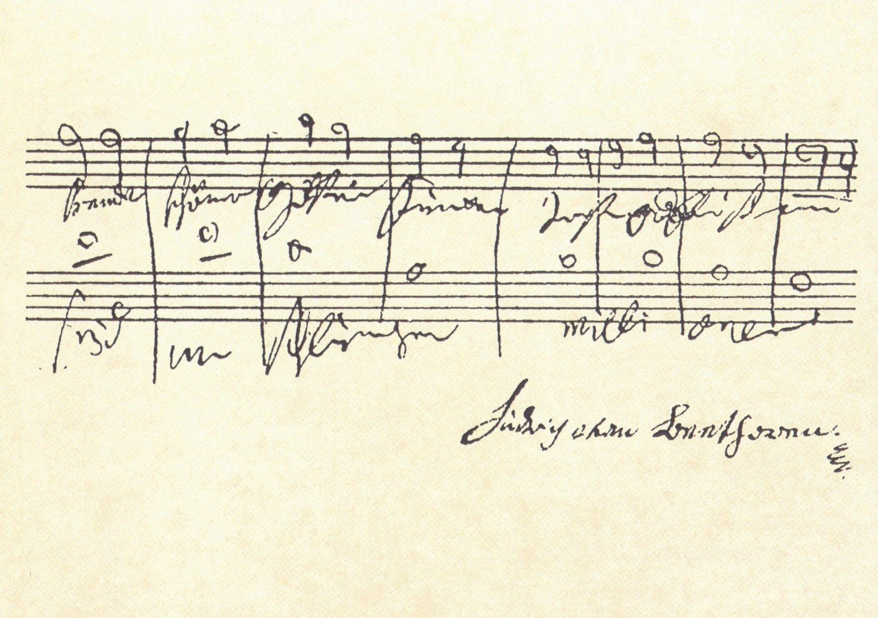 "LUDWIG VAN BEETHOVEN Neunte Symphonie , d-moll,op.125 Freude schötterfunken..."""