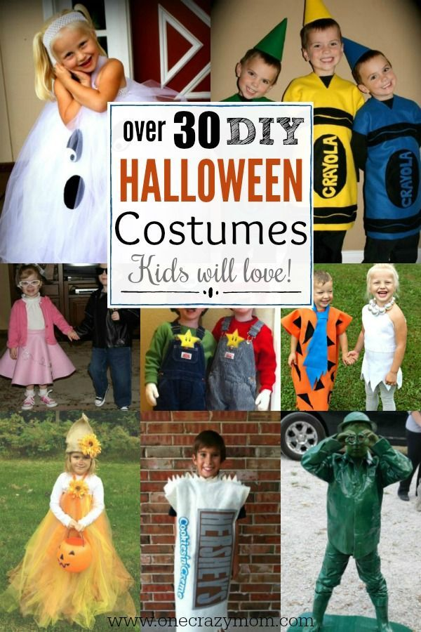 Find DIY Halloween Costumes for Kids here30 homemade Halloween - simple halloween costumes ideas
