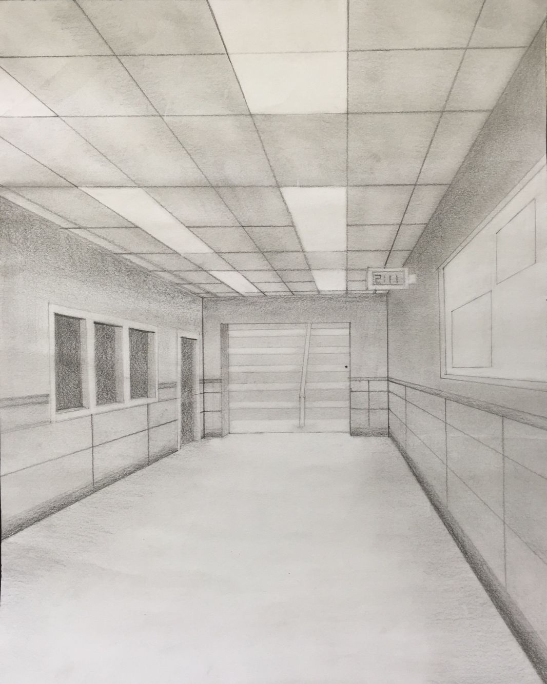 One Perspective Drawing Room: One Point Perspective Hallway Drawing