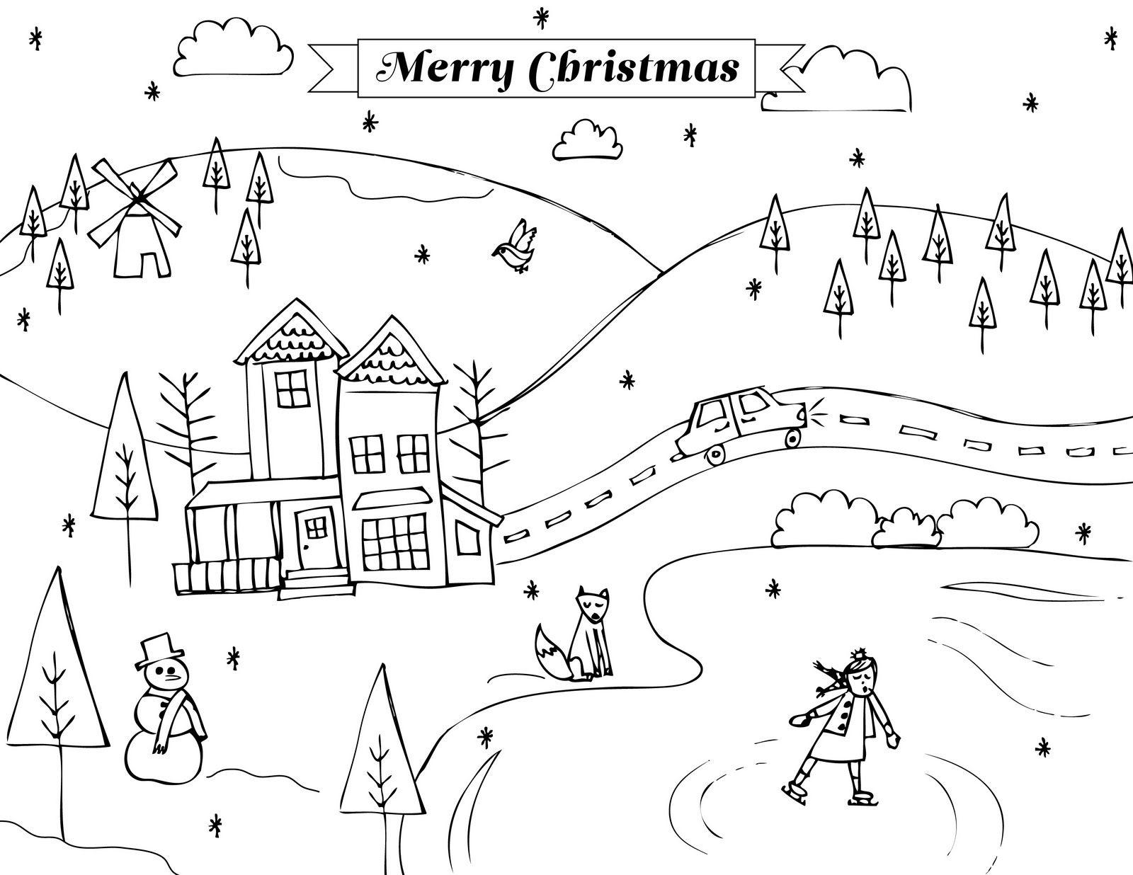 free holiday printable coloring page jpg file from Sharon Rowan
