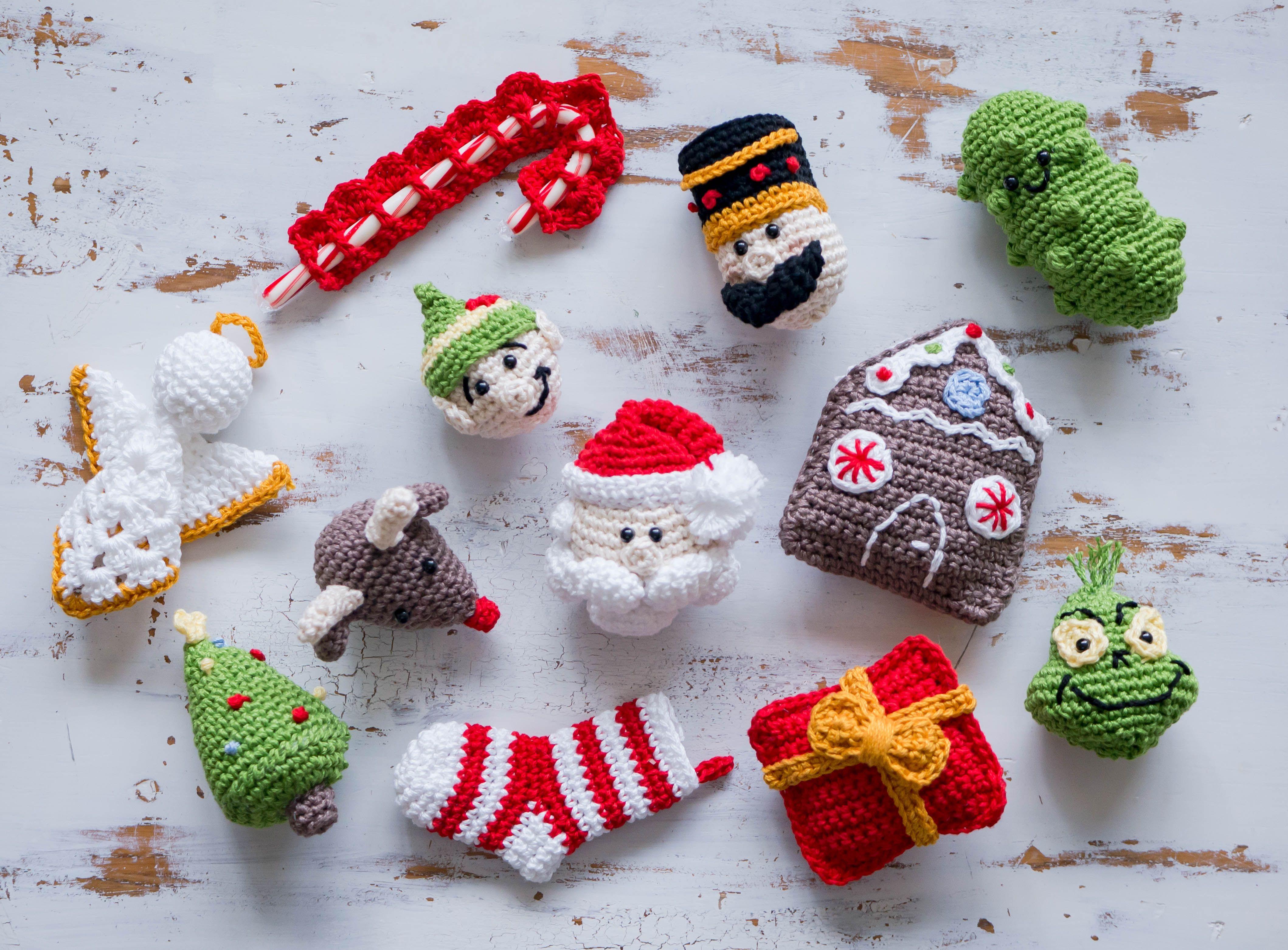 Crochet Present Christmas Ornament | Weihnachtsfiguren, Wichtel und ...